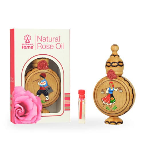 Wooden Souvenir with Natural Rose Oil Lema 1.0 ml