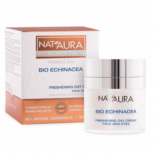 Freshening day cream for face and eye contour NAT'AURA 20+