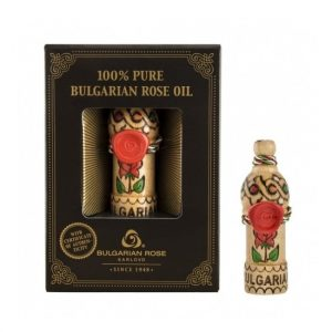 Wooden souvenir with natural rose oil 0.5 ml