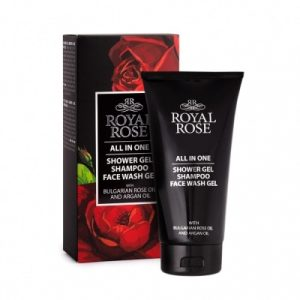 Shower gel & shampoo & Face wash gel for men Royal Rose 150 ml