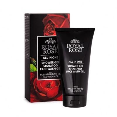 Shower gel & shampoo & Face wash gel for men Royal Rose 150 ml