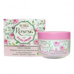 Face cream with bulgarian rose oil and hyaluronic acid 50ml