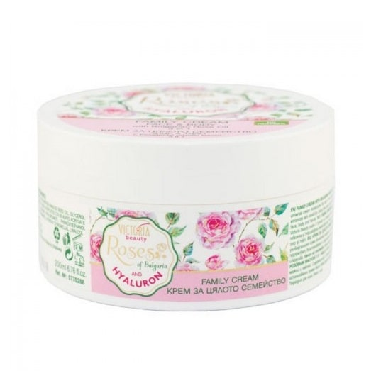 Family Cream with Bulgarian Rose Oil and Hyaluronic Acid 3 in 1 200ml
