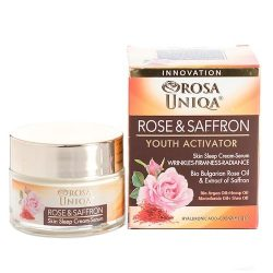 Night Cream Serum Rose & Saffron Rosa Uniqa 50ml