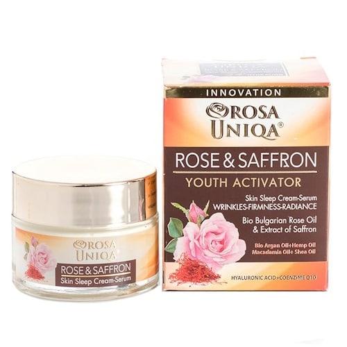 Night Cream Serum Rose & Saffron Rosa Uniqa 50ml