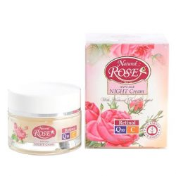 Anti-Age Night Facial Cream Natural Rose 50ml