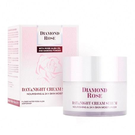 Day & Night Cream Serum for Dry skin Diamond Rose 50ml