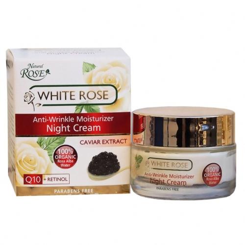Night cream Anti-age White Rose & Black Caviar 50ml