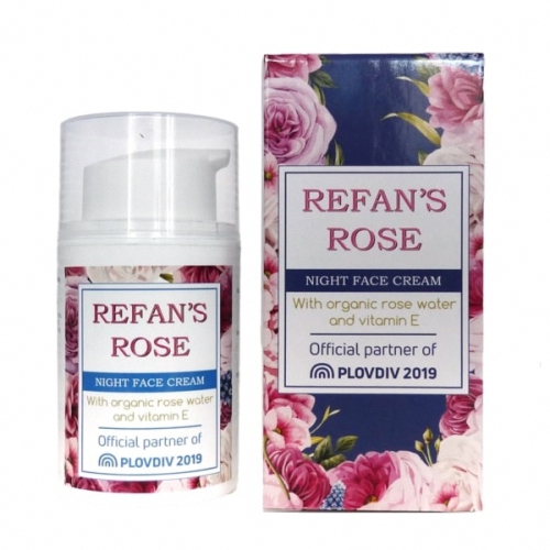 Night Face Cream Refan's Rose 50ml