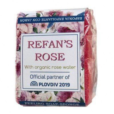 Pilling soap-sponge Refan's Rose 75g