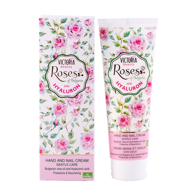 Hand and Nail Cream with Rose Oil and Hyaluronic Acid 100ml